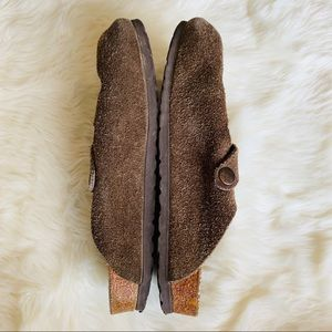 Birkenstock Shoes - Birkenstock Suede Brown Boston Clog Shoes